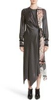 Yigal Azrouel Women's Fringe Trim Asymmetrical Stripe Silk Dress
