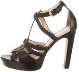 Alexandre Birman Woven Leather Heels