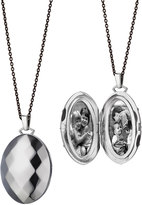 Monica Rich Kosann Passion Faceted Sterling Silver Locket Necklace