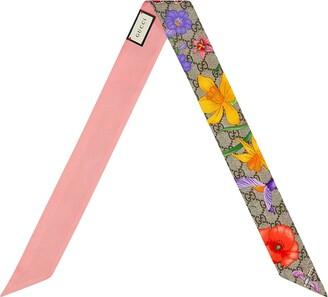 Gucci Floral-Print Scarf