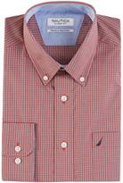 Nautica Classic Fit Wrinkle Resistant Sunrise Mini Plaid Shirt