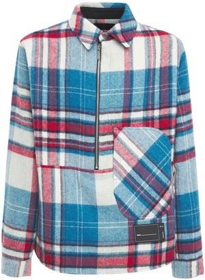 we11done Check Wool Plaid Shirt Jacket