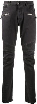 Balmain Zipped Pocket Skinny Jeans