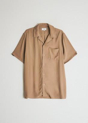 NEED Men's Jasper Camp Collar Shirt in Dark Camel, Size Extra Small