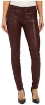 Blank NYC Burgundy Five-Pocket Vegan Leather Pants in Going Downtown