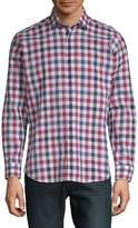 Jared Lang Men's Cotton Gingham Shirt