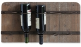 3R Studio Wood and Metal 5-Bottle Wine Rack