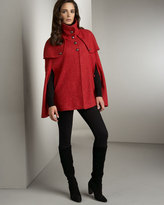 Trench Cape, Berry Red