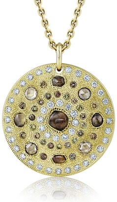 De Beers Yellow Gold Talisman Large Medallion Necklace