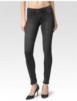 Paige Trixi Zip Ultra Skinny - Luxe Grey