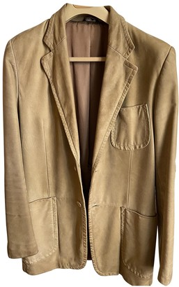 Gucci Beige Leather Jackets