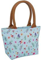 Miso Womens Canvas Lunch Bag Zip Print Printed Summer