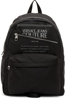 Versace Jeans Couture Black and Silver Warranty Backpack