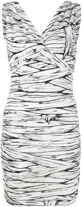 Moschino Ruched Fitted Mini Dress