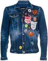 DSQUARED2 distressed patch denim jacket