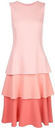 Oscar de la Renta Tiered Sleeveless Dress