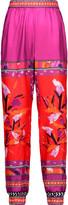 Diane von Furstenberg Janeta printed silk-twill tapered pants
