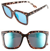 Quay Women's Genesis 55Mm Square Sunglasses - Tort/ Blue