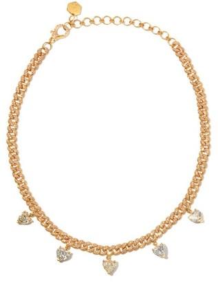 Shay Heart-cut Diamond & 18kt Gold Choker - Yellow Gold