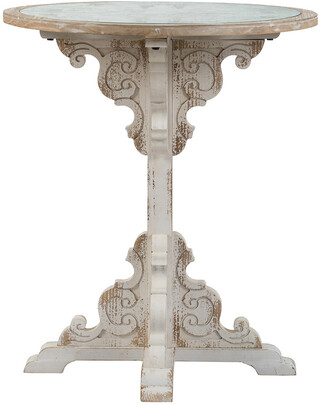 A&B Home 24In Wooden Carved Table