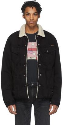 Nudie Jeans Black Denim Lenny Jacket
