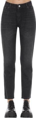 Karl Lagerfeld Paris Sparkle Girlfriend Cotton Denim Jeans