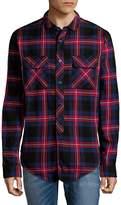 PRPS Men's Plaid Cotton Button-Down Shirt