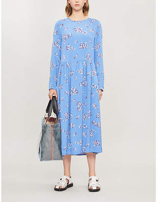 Samsoe & Samsoe Rama floral-print crepe midi dress