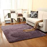 Faux Sheepskin Rug Carpet with Super Soft Fluffy Thick Fur,Area Rugs Super Soft Living Room Purple