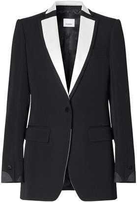 Burberry Colour-Block Tuxedo Jacket