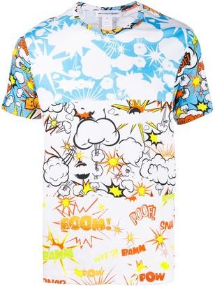 Comme des Garçons Shirt comic print T-shirt