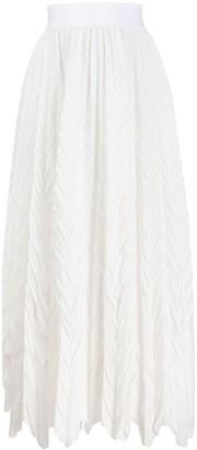 Emporio Armani Crinkle Effect Midi Skirt