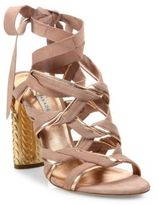 Casadei Block Heel Leather Sandals