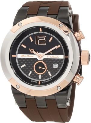 Mulco Unisex Bluemarine Glass Chronograph Swiss Multifunctional Movement Watch (Brown)