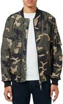 Topman Men's Camo Print Ma-1 Bomber Jacket