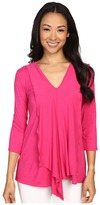 Miraclebody Jeans Cerise Asymmetric Top w/ Body-Shaping Inner Shell