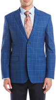 Zanetti Blue Check Wool Sport Coat