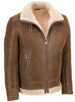 Wilsons Leather Mens Big & Tall Shearling Leather Hipster W/ Pebbled Finish Shea