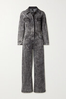 Thumbnail for your product : Norma Kamali Acid-wash Stretch-denim Jumpsuit - Black