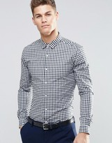 Asos Skinny Shirt In Two Color Check