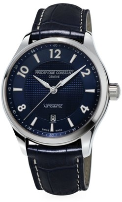 Frederique Constant Runabout Automatic Stainless Steel & Leather Strap Watch