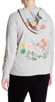 Cotton Emporium Floral Embroidered Hoodie (Plus Size)
