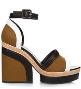 Pierre Hardy Charlotte leather and canvas platform sandals