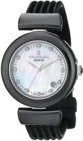 Charriol Women's AE33CB173003 Ael Analog Display Swiss Quartz Black Watch