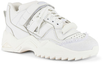 Maison Margiela Retro Fit Midi Sneaker in White | FWRD