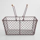 World Market Rectangular Rustic Wire Basket