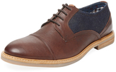 Ben Sherman Men's Leon Mixed Media Derby Shoe