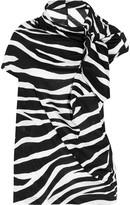 Junya Watanabe Zebra-print cotton-jersey T-shirt