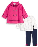 Little Me Infant Girl's Jacket, Top & Leggings Set