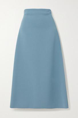 GAUCHERE Ross Frayed Wool Midi Skirt - Blue